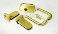 """Комплект фурнитуры """"N"""" для стеклянной двери Золото"""
