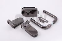 Комплект фурнитуры O (GT) для стеклянной двери Черный никель
