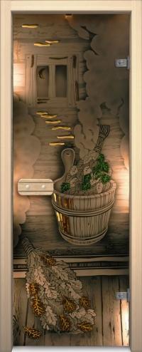 Двери для сауны Арт серия с фьюзингом парилка