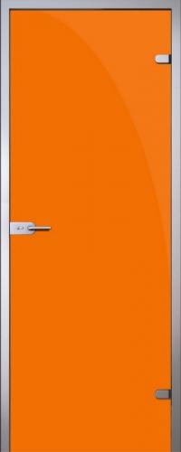 Стеклянная дверь Orange (оранжевая) АКМА
