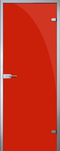 Стеклянная дверь Red (красная) АКМА