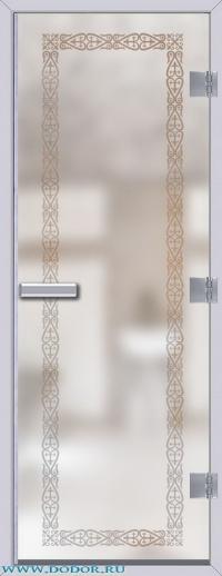 Дверь для сауны Хамам 60G бесцветная матовая Акжол