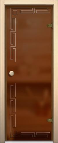 Стеклянная дверь для сауны АКМА light София Ручка кноб