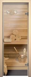 Двери для сауны Аспен и Линден Бесцветное стекло