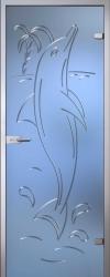 Стеклянная дверь Дельфин
