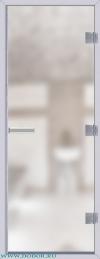 Дверь для сауны Хамам 60G бесцветная матовая