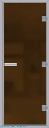 Дверь для сауны Хамам 60G бронзовая матовая