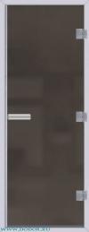 Дверь для сауны Хамам 60G серая матовая