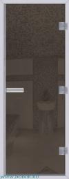 Дверь для сауны Хамам 60G серая