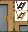 двери хамам в цвете золото и черный никель