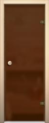 Стеклянная дверь для сауны АКМА light бронза матовая Ручка кноб