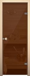 Стеклянная дверь для сауны АКМА light бронза Ручка кноб-магнит Хром