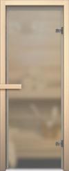 Стеклянная дверь для сауны АКМА light матовое Магнитная ручка