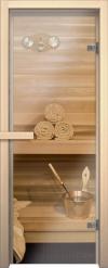 Стеклянная дверь для сауны АКМА light прозрачная Магнитная ручка