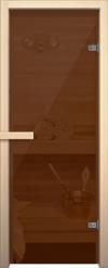 Стеклянная дверь для сауны АКМА light бронза Магнитная ручка