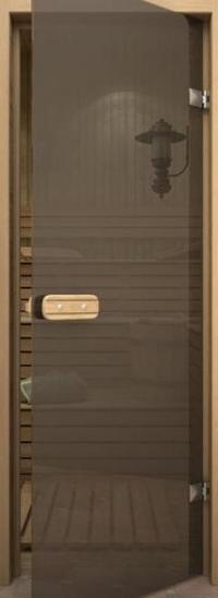 Прозрачная серая дверь